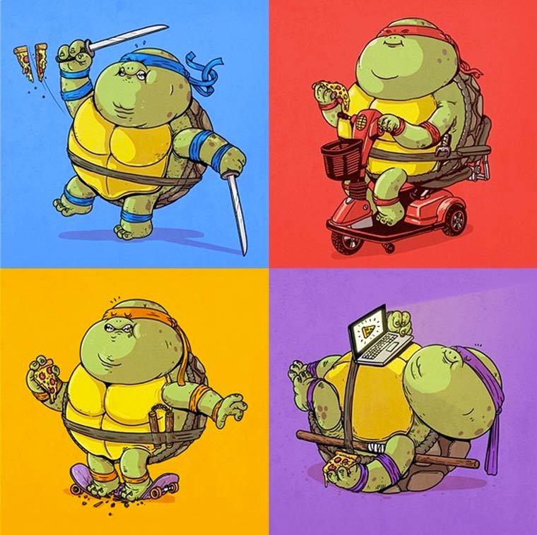 Все смешные картинки про черепашек ниндзя, днем