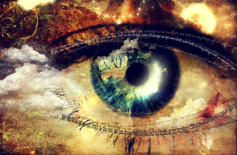 Картинка зеленые глаза в них вселенная